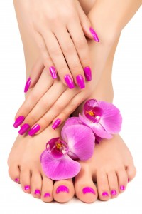 http://www.dreamstime.com/royalty-free-stock-photo-relaxing-pink-manicure-pedicure-orchid-flower-image30199355